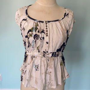 Anthropologie Deletta floral blouse